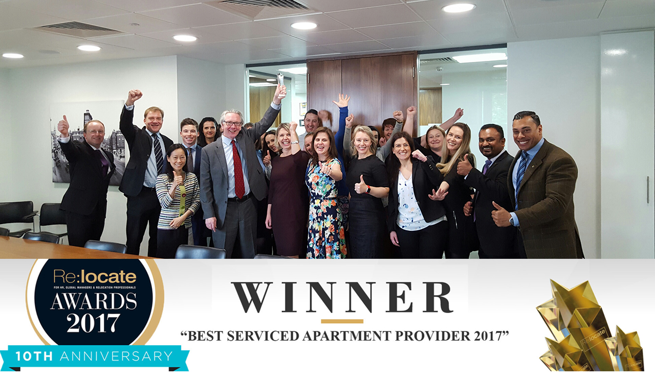 Cheval Residences Winner Of Best Serviced Apartment Provider 2017 Relocate Awards