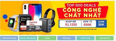 Mã khuyến mãi TẾT 2019 của Shopee - 50% Hàng điện tử