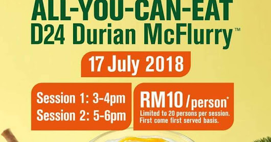 All-You-Can-Eat D24 Durian McFlurry