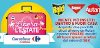 Logo Concorso ''Libera l'estate'' e vinci Gift Card Carrefour da 50€