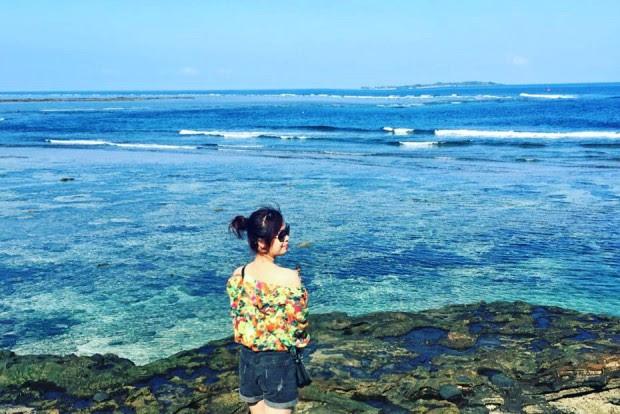 Biển Lý Sơn trong xanh rất đẹp