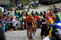 Euskaltel Euskadi Cyclist on the Angliru (2013 Vuelta a España)