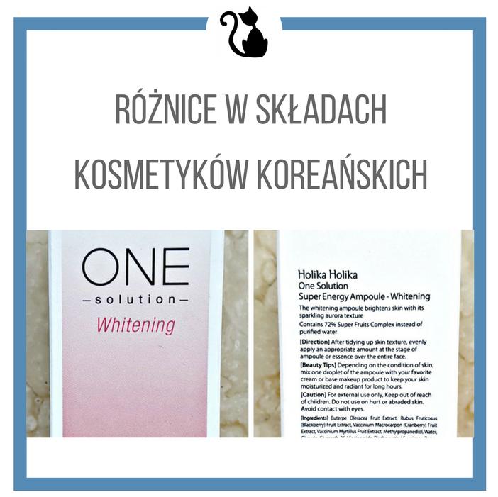 Różnice w składach tych samych kosmetyków: Korea a Polska
