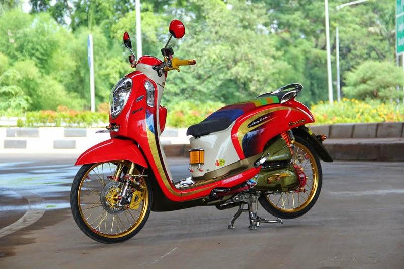 Dunia Modifikasi 20 Modifikasi Motor Honda Scoopy Keren