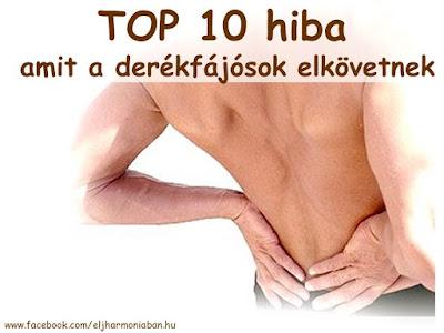 derékfájós, derékfájás, hátfájás, gerincsérv, fájdalom, porckorongsérv, 10 hiba, top 10 hiba