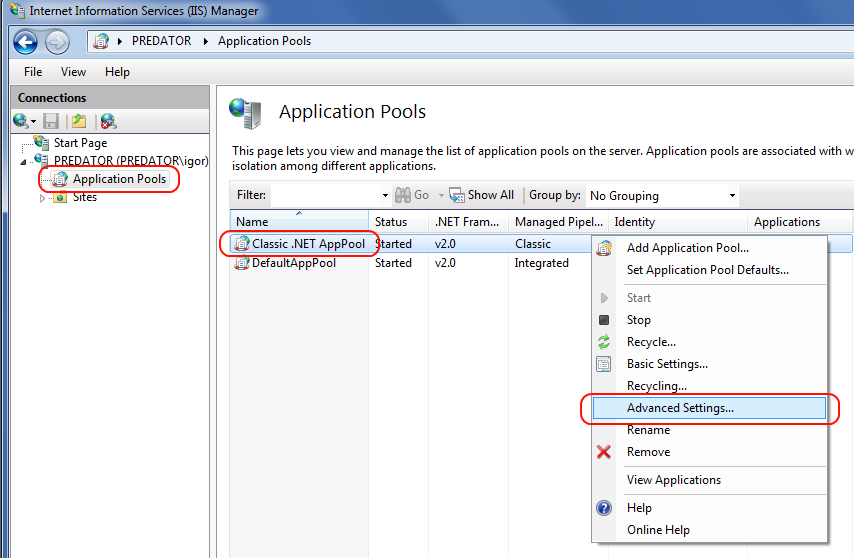 Zohaib qadar's Blog: Configure IIS 7 5 Some Issues and Solutions