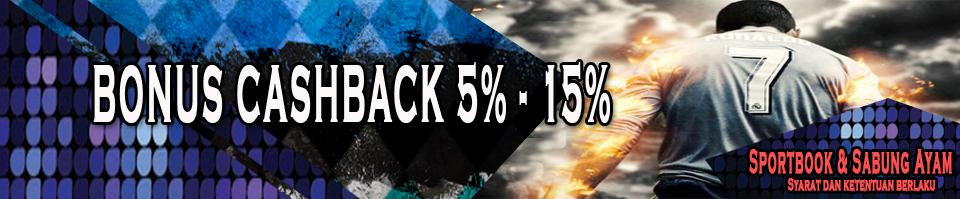 Bonus Cashback 5% - 15%