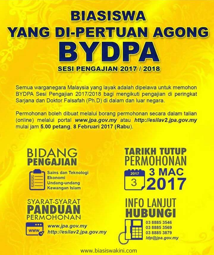 BIASISWA YANG Dl-PERTUAN AGONG SESI PENGAJIAN 2017 / 2018