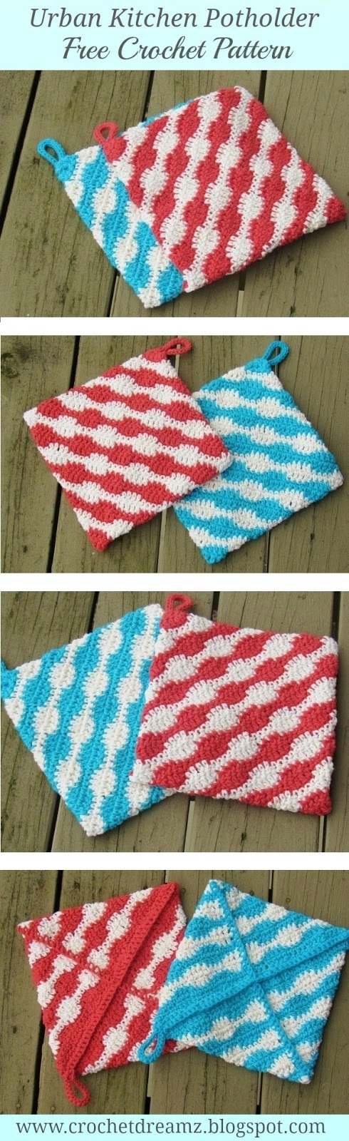 Crochet Potholder free pattern,