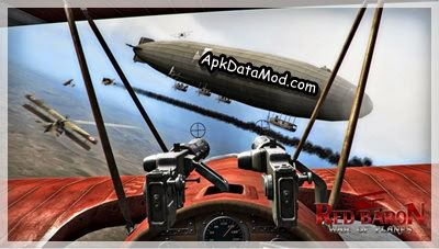 Red Baron War of Planes Apk shooting zeppelin