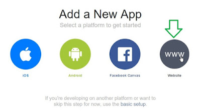 facebook add a new app platform website