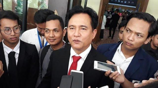 Yusril Dinilai Terlalu Buru-buru Merapat ke Jokowi-Ma'ruf Amin