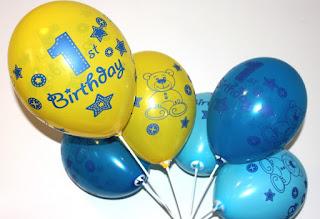 воздушные шарики  на первый день рождения