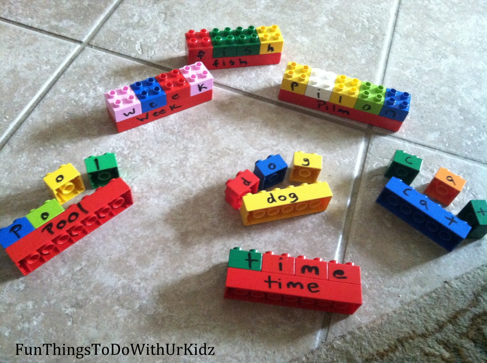Using Legos To Help Spell
