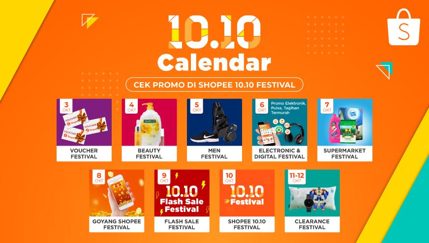 Shopee Hadirkan Festival Diskon 10 Hari Di Shopee 10 10 Festival Tabayuna