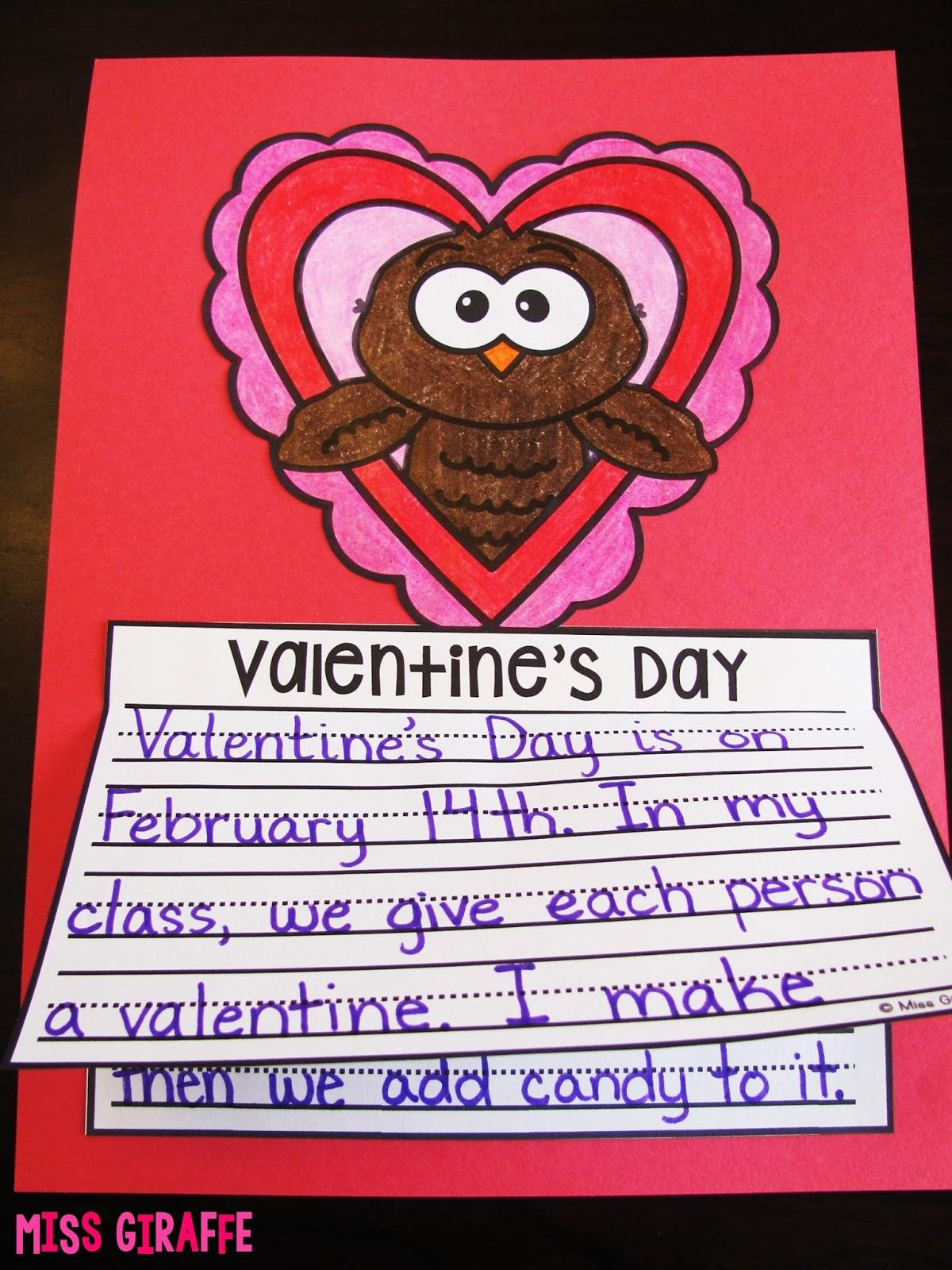 Free Valentines Day Writing Craft Activities