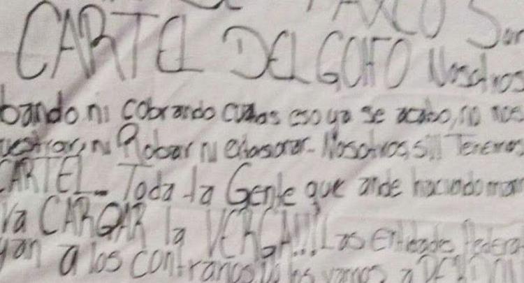 "CDG amenazan con ""cazar"" a agentes federales que apoyen a la contra en Taxco, Guerrero."