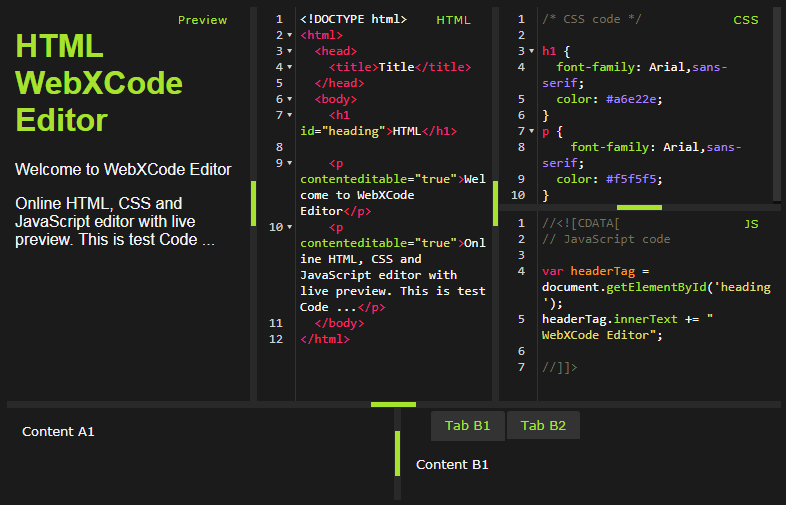 webxcode - CodeMirror a reliable and luxurious programming editor