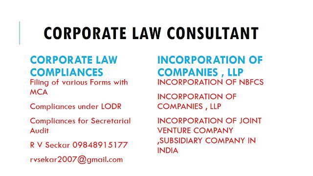 R V Seckar corporate , FEMA  , Insolvency law consultant
