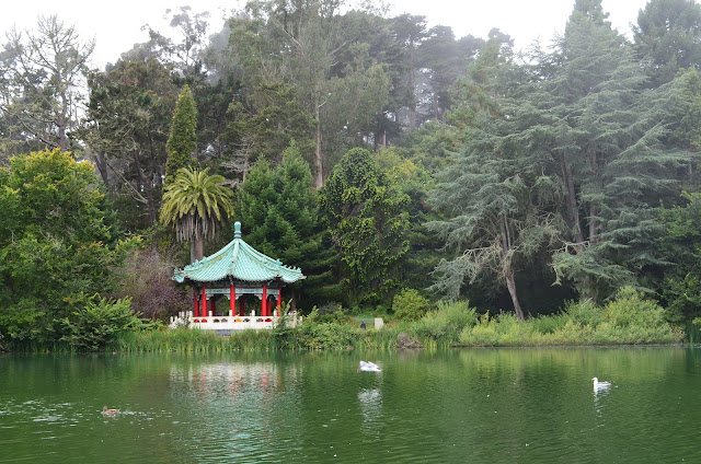 Chinese Pavilion no Golden Gate Park.