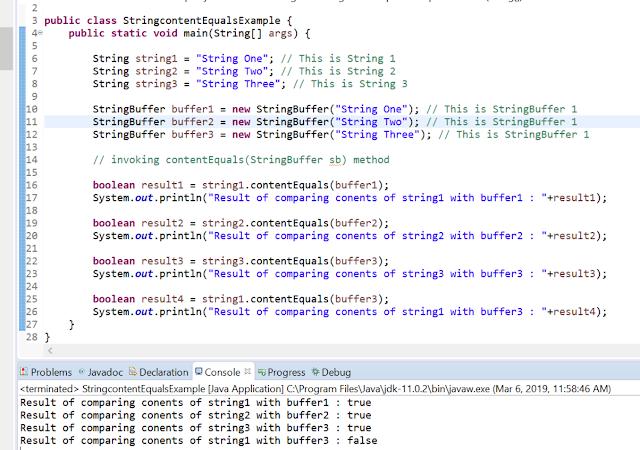 String contentEquals() method-2