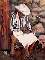 Basket Maker from Guatemala in traditional men's clothing