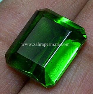 Batu Permata Green Tektite + Memo - ZP 539