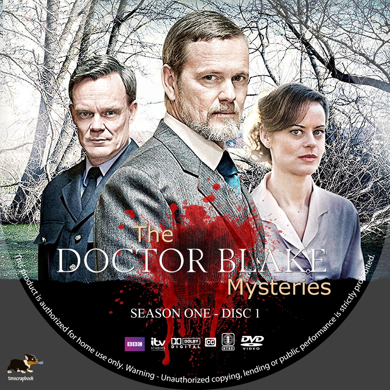 The Doctor Blake Mysteries Season 1 Disc 1-3 DVD Label