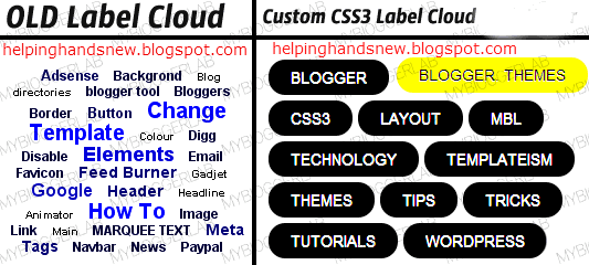 Customize Blogger Label Cloud With CSS3