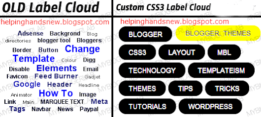 Customize Blogger Label Cloud With CSS3 | Helping Hands