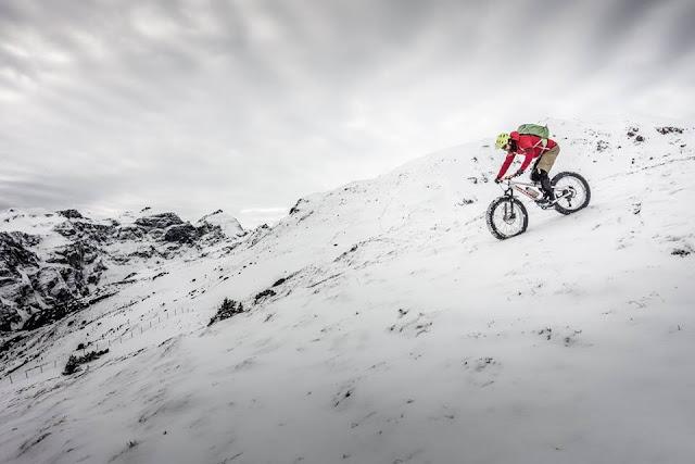 Fatbike Tour auf Schnee Trunajoch Brenner
