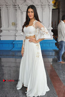 Telugu Actress Amyra Dastur Stills in White Skirt and Blouse at Anandi Indira Production LLP Production no 1 Opening  0099.JPG