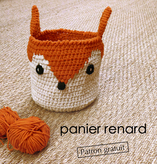 pattern crochet basket fox