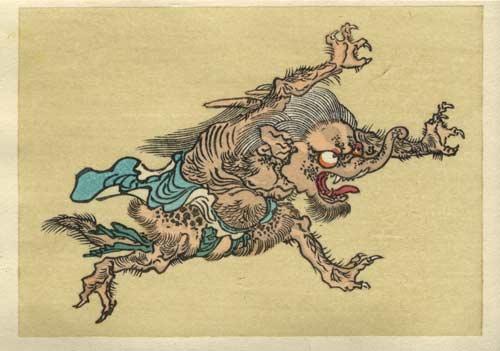Los Yokai, un tipo de espiritus japoneses.