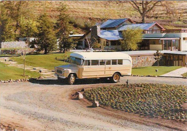 Robert Earl Burton's Fellowship of Friends cult bus at Renaissance Apollo California