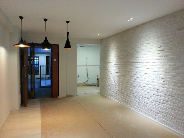 painted white brick wall design ideas