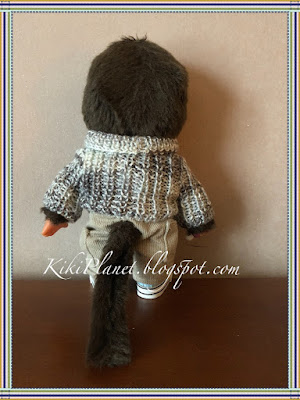 kiki monchhichi pull tricot vêtement poupée knitting sweater clothes handmade fait main