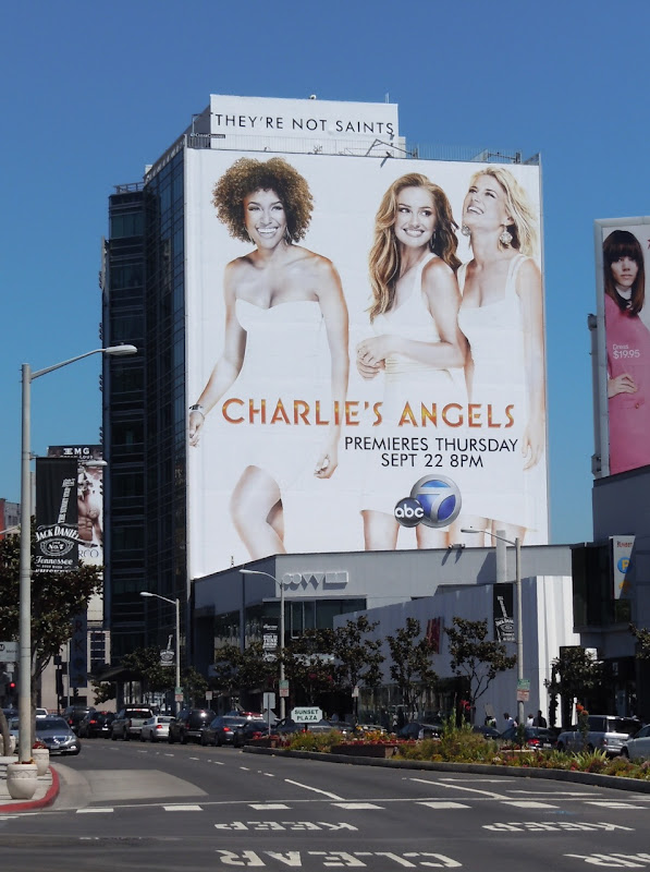 Charlie's Angels bilboard Sunset Strip
