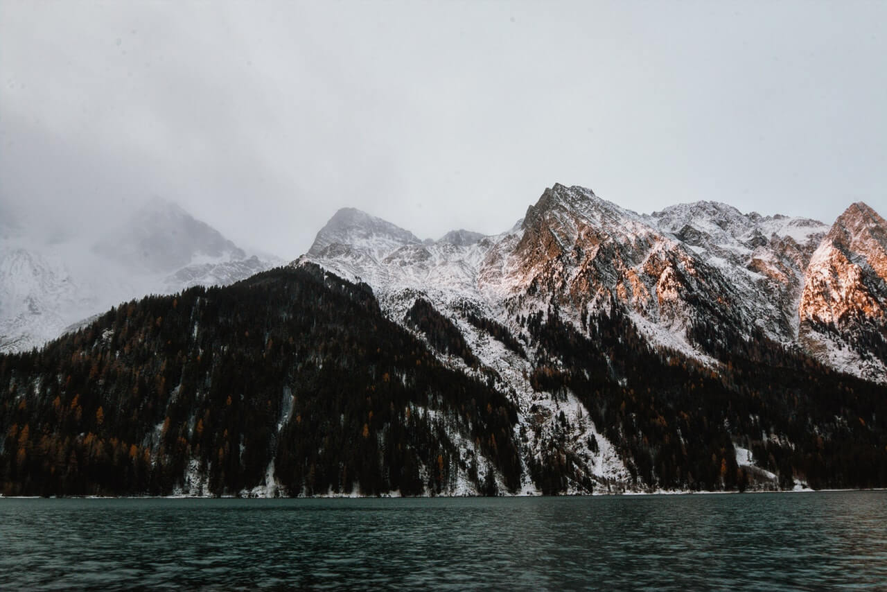 Mountain Beside Body of Water HD Copyright Free Image