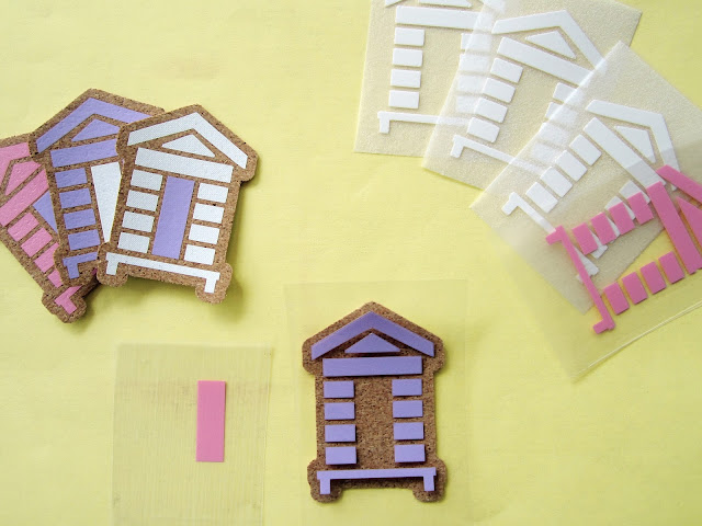 Cork Stickers using Adhesive Cork Sheets. Janet Packer for Silhouette UK Blog