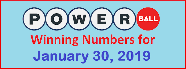 PowerBall Winning Numbers for Wednesday, 30 January 2019