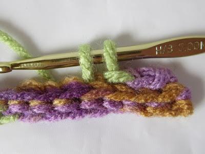 crochet, slip stitch, back loop, stitch direction