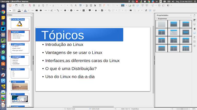 Slide para apresentação do Linux