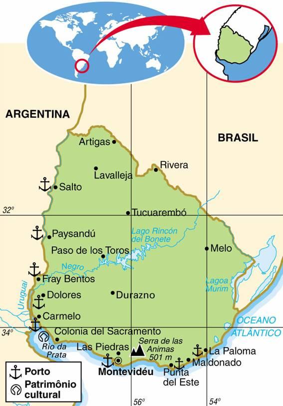 URUGUAI - ASPECTOS GEOGRÁFICOS E SOCIAIS DO URUGUAI
