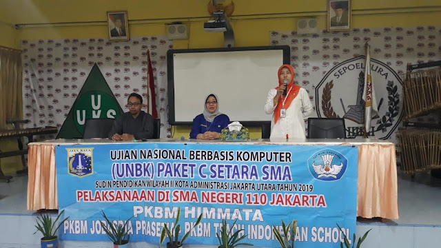 Kegiatan UNBK Paket C T.A. 2018-2019 di SMAN 110 Jakarta
