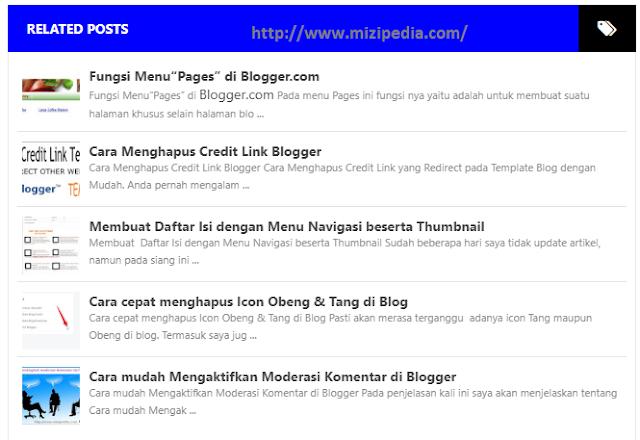 Car Membuat List Related Post Dibawah Postingan Blogger