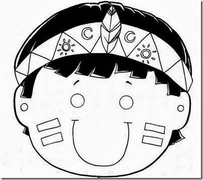 Maestra De Primaria Máscaras Caretas Y Disfraces De Indio Para