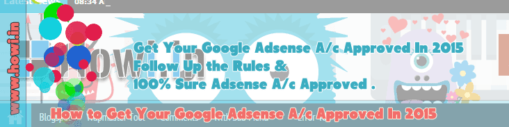 How to Get Google Adsense Approoved In 2015