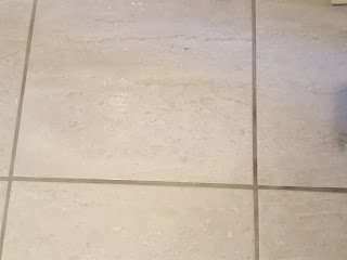 The Floor Tiles in the New Bathroom