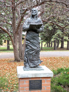 Saint Benedict of the Great Plains on the grounds of Assumption Abbey, Richardton, ND